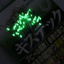 (投げ売り超特価)拙者競技モデル50本糸付き鈎 ダブルケイムラ&夜光塗 byササメ キステック