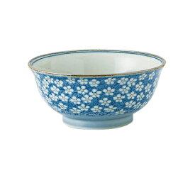 早春(ブルー) 粗白めん鉢 [直径18.5 X 8.5cm] 【飲食店 業務用 割烹 料亭 食器】