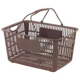 ショッピングバスケット U-33 ブラウン [ 500 x 360 x H240mm 内容量:33L ] [ 店舗備品 ] | スーパー コンビニ 店舗 買い物かご 業務用