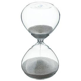 プレシャス サンドグラス 3分計 シルバー [ Φ60 x H118mm ] 【 計測 】 |飲食店 厨房 キッチン おしゃれ 自宅用