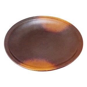 (強)焼締(布目)10.0丸皿 [ Φ30.5 x H3cm 1100g ]   大きい お皿 大皿 盛り皿 盛皿 人気 おすすめ パスタ皿 パーティー 食器 業務用 飲食店 カフェ うつわ 器 ギフト プレゼント誕生日 贈り物 贈答品 お