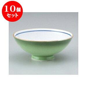 10個セット ご飯茶碗 緑彩中平 [11.7 x 4.6cm] 強化 | ちゃわん お茶碗 飯碗 ご飯茶碗 白米 人気 おすすめ 食器 業務用 飲食店 カフェ うつわ 器 おしゃれ かわいい ギフト プレゼント 引き出物 誕