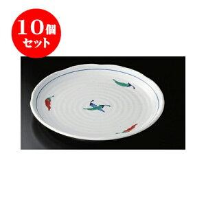 10個セット 丸大皿 赤絵とうがらし大皿 [29.7 x 3.2cm] | 大きい お皿 大皿 盛り皿 盛皿 人気 おすすめ パスタ皿 パーティー 食器 業務用 飲食店 カフェ うつわ 器 ギフト プレゼント誕生日 贈り物