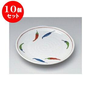 10個セット 和皿 粉引とうがらし5.0皿 [16.5 x 2cm] | 中皿 デザート皿 取り皿 人気 おすすめ 食器 業務用 飲食店 カフェ うつわ 器 おしゃれ かわいい ギフト プレゼント 引き出物 誕生日 贈り物