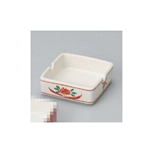 灰皿 赤万暦3.0角形灰皿 [8 x 8 x 3cm] 【旅館 料亭 飲食店 和食 業務用】