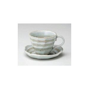 碗皿 ボーダーロックコーヒー碗皿 [碗9.5 x 7.2cm 皿14 x 13 x 2.5cm] 土物 | コーヒー カップ ティー 紅茶 喫茶 人気 おすすめ 食器 洋食器 業務用 飲食店 カフェ うつわ 器 おしゃれ かわいい ギフト