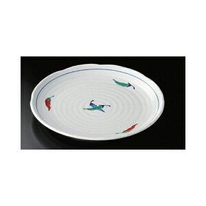 丸大皿 赤絵とうがらし大皿 [29.7 x 3.2cm] | 大きい お皿 大皿 盛り皿 盛皿 人気 おすすめ パスタ皿 パーティー 食器 業務用 飲食店 カフェ うつわ 器 ギフト プレゼント誕生日 贈り物 贈答品 お
