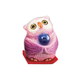 開運風水ミニふくろう(紫色) [ 4.5cm ] 【 縁起の福飾り 】   置物 陶磁器 お祝い プレゼント