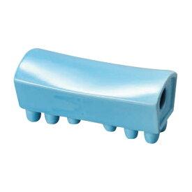 ブルー陶枕 [ 18 x 8 x 8cm ] 【 雑器 】   寝具 インテリア とうちん 贈り物 ひんやり
