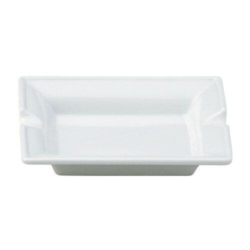 ☆ 灰皿 ☆ フレスコ 灰皿 [ L-11.1 S-9.1 H-2cm ] 【 洋食器 ホテル レストラン カフェ 飲食店 業務用 白 ホワイト 】