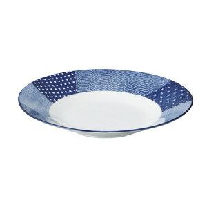 古青藍 藍空 27.5cm浅鉢 [ D-27.5 H-4.6cm ]| 鉢 パスタ皿 盛り鉢 ボウル 大きい おすすめ 食器 業務用 飲食店 カフェ うつわ 器 ギフト プレゼント 内祝い 結婚祝い 誕生日 贈り物 贈答品 おしゃれ か