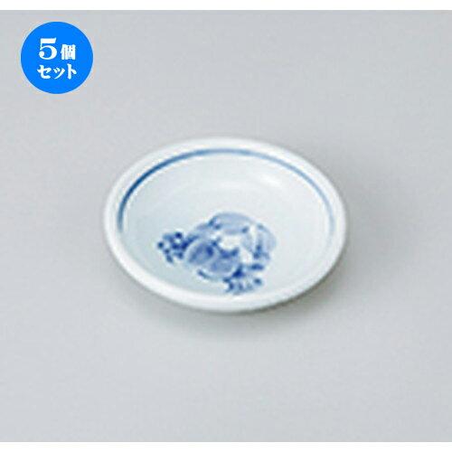 5個セット☆ 小皿 ☆ かに3.0皿 [ 9.1 x 2.2cm ] 【 料亭 旅館 和食器 飲食店 業務用 】