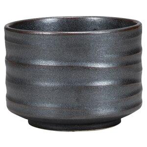 柿釉黒いぶし甘味鉢 [ 10.9 x 7.7cm ] 【抹茶碗 】 | 茶道 お土産 和食器 飲食店 業務用 お抹茶 野点 茶室 床の間