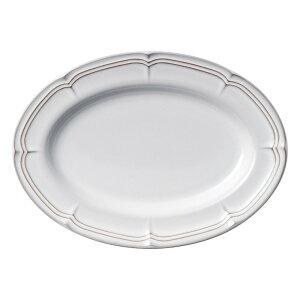 ラフィネ スモークホワイト 28.5cmオーバルプラター [ L28.5 x S20.5 x H3.1cm ] | 楕円 皿 形プラター 丸 パスタ 人気 おすすめ 食器 洋食器 業務用 飲食店 カフェ うつわ 器 おしゃれ かわいい ギフト