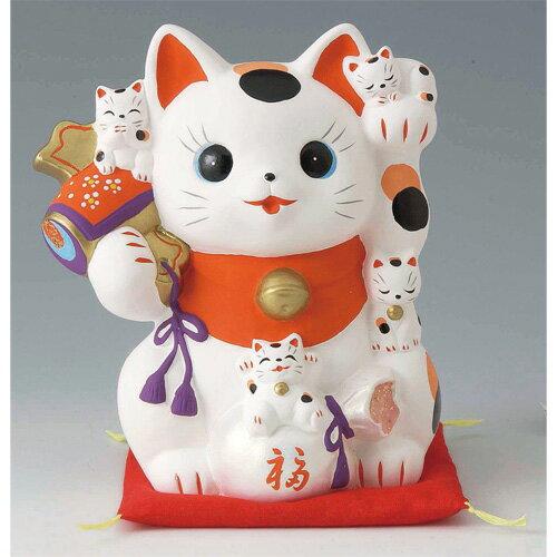 置物 猫づくし招き猫 貯金箱 [16.5cm] 【縁起物 かわいい 置物】