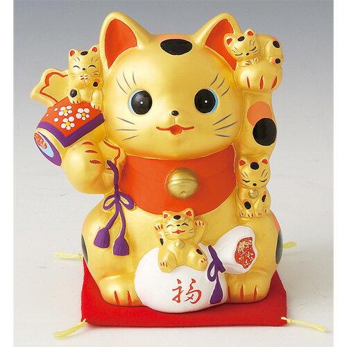 置物 金運猫づくし招き猫貯金箱 [高さ16.5cm] 【縁起物 かわいい 置物】