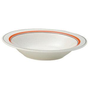 スノートンオレンジ 9インチスープ [D23.2 x H4.3cm]| 中皿 サラダ パスタ 取り皿 プレート 人気 おすすめ 食器 洋食器 業務用 飲食店 カフェ うつわ 器 おしゃれ かわいい ギフト プレゼント 引き