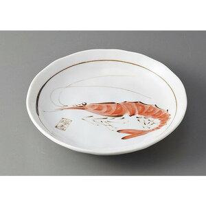 和皿(16〜12cm) 魚シリーズ4寸皿 エビ [D14 x 2.5cm] | 中皿 デザート皿 取り皿 人気 おすすめ 食器 業務用 飲食店 カフェ うつわ 器 おしゃれ かわいい ギフト プレゼント 引き出物 誕生日 贈り物