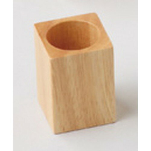 ☆ 木製卓上小物 ☆ 木製ピックスタンド ナチュラル [ 約4.3 x 4.3 x H6cm ] 【 料亭 旅館 和食器 飲食店 業務用 】