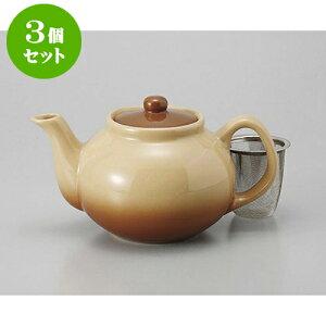 3個セット ポット Sha・La・Laポット(U) [12 x 10.5cm 560cc] | ポット 急須 土瓶 紅茶 コーヒー まったり 人気 おすすめ 食器 業務用 飲食店 カフェ うつわ 器 おしゃれ かわいい ギフト プレゼント 引