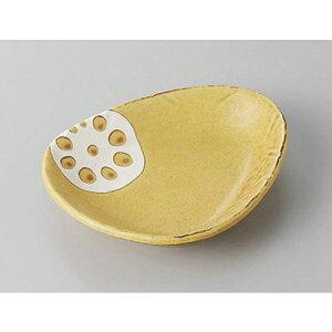 小皿 れんこん三角小皿(からし) [12.6 x 10.4 x 2.4cm] | 小皿 取り皿 人気 おすすめ 食器 業務用 飲食店 小さいお皿 カフェ うつわ 器 おしゃれ かわいい ギフト プレゼント 引き出物 誕生日 贈り物