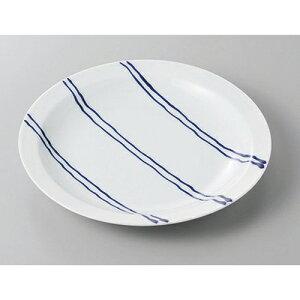 丸盛皿 有田焼ストライプBパン皿 [18 x 2.5cm] | 盛り皿 盛皿 人気 おすすめ フルーツ皿 パーティー パスタ皿 食器 業務用 飲食店 カフェ うつわ 器 ギフト プレゼント 引き出物 誕生日 贈り物 贈
