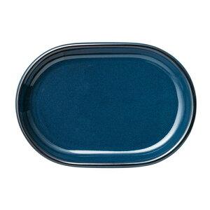 ブルーブルー楕円プレート26cm [ 26 x 18.1 x 2.7cm ]| 中皿 サラダ パスタ 取り皿 プレート 人気 おすすめ 食器 洋食器 業務用 飲食店 カフェ うつわ 器 おしゃれ かわいい ギフト プレゼント 引き出