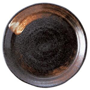 黒結晶 21.5cm皿 [R21.2 x 2.3cm]   中皿 デザート皿 取り皿 人気 おすすめ 食器 業務用 飲食店 カフェ うつわ 器 おしゃれ かわいい ギフト プレゼント 引き出物 誕生日 贈り物 贈答品
