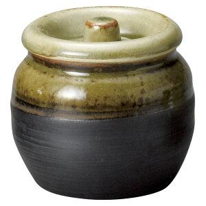 黒灰釉カメ(M) [ 10.5 x 10cm・600cc 478g ] [ かめ ] | 飲食店 和食 梅干し 居酒屋 保存 業務用