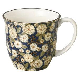 菊の小路マグ(紺) [ 9.2 x 8.2cm・320cc 155g ] [ マグカップ ]   マグ マグカップ コーヒー 紅茶 ティー 人気 おすすめ 食器 洋食器 業務用 飲食店 カフェ うつわ 器 おしゃれ かわいい ギフト プレゼ