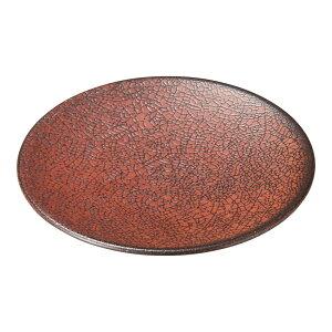 柿赤 15cm丸皿 [ 15.4 x 2cm ] [ 中皿 ] | 飲食店 和食 旅館 料亭 ホテル 業務用
