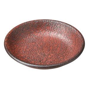 柿赤 10.5cm丸皿 [ 10.5 x 2cm ] [ 小皿 ] | 飲食店 和食 旅館 料亭 ホテル 業務用