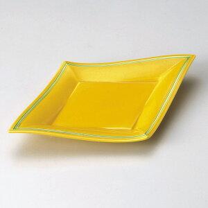 長皿 黄釉グリーン菱型10.0皿 [ 30 x 20 x 3.5cm ] | 大きい お皿 大皿 盛り皿 盛皿 人気 おすすめ パスタ皿 パーティー 食器 業務用 飲食店 カフェ うつわ 器 ギフト プレゼント誕生日 贈り物 贈答品
