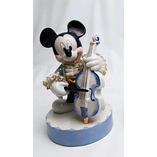 ディズニー レースドール ミッキーマウス オルゴール コントラバス(ブルー) [H17cm] 【disney 置物 インテリア】