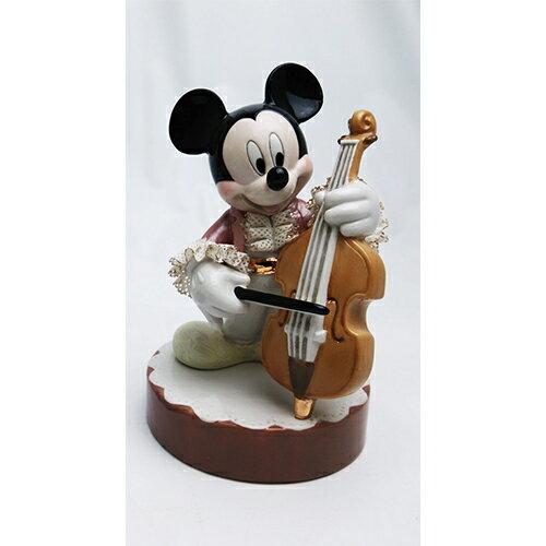 ディズニー レースドール ミッキーマウス オルゴール コントラバス(カラー) [H17cm] 【disney 置物 インテリア】