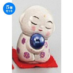 5個セット☆ 縁起の福飾り ☆ 開運風水ミニお地蔵様(紫色) [ 45mm ] 【縁起物 置物 インテリア お土産 】