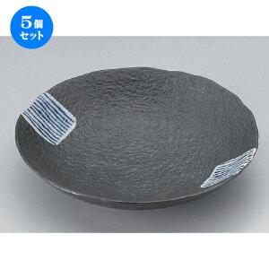 5個セット☆ 組皿 ☆藍タスキ丸皿 (中) [ 18 x 3.5cm 310g ] | 組皿 和皿 取り皿 取り皿 おすすめ 万能 食器 業務用 飲食店 カフェ うつわ 器 おしゃれ かわいい お洒落 可愛い ギフト プレゼント 引