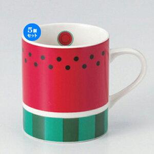 5個セット☆ マグカップ ☆スイカNBマグ [ 7.8 x 9cm (320cc) 260g ] | マグ マグカップ コーヒー 紅茶 ティー 人気 おすすめ 食器 洋食器 業務用 飲食店 カフェ うつわ 器 おしゃれ かわいい ギフト プ