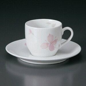 ☆ コーヒーカップ ☆ピンクフラワーDCコーヒーC/S [ 329g ] ? 白 ホワイト 桃色 ピンク コーヒー カップ ティー 紅茶 喫茶 人気 おすすめ 食器 洋食器 業務用 飲食店 カフェ うつわ 器 おしゃれ