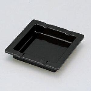ホテルグッズ 角灰皿ブラック(小) [11 x 11 x 2.3cm] 熱硬化性樹脂(メラミンまたはユリア樹脂) (7-902-22) 【料亭 旅館 和食器 飲食店 業務用】