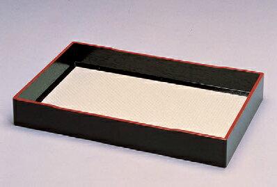 客室用品 衣裳盆(布張り)黒天朱 [60.5 x 39.5 x 7.5cm] 木製品 (7-911-6) 【料亭 旅館 和食器 飲食店 業務用】