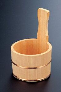 風呂用品 片手桶 [15.5φ x 24cm] 木製品 (7-916-9) 【料亭 旅館 和食器 飲食店 業務用】