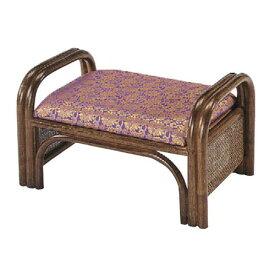 椅子 ご仏前椅子 紫金らん低脚 [49 x 32 x H28 x SH23cm] 藤 (7-774-1) 【料亭 旅館 和食器 飲食店 業務用】