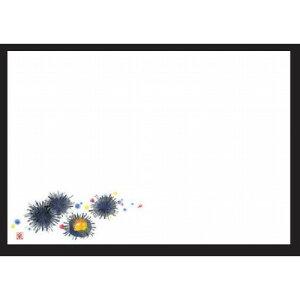 和紙マット 尺3寸長手和紙敷マット(100枚単位)ウニ(5月 8月) [38 x 26cm] 上質紙 (7-152-1) 【料亭 旅館 和食器 飲食店 業務用】