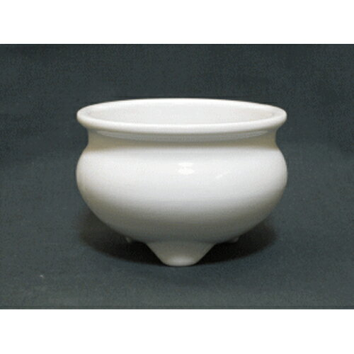 仏壇用 香炉 白(白磁) 3寸 [直径9.2cm高さ6.4cm] 【お盆 仏具 寺院 業務用】