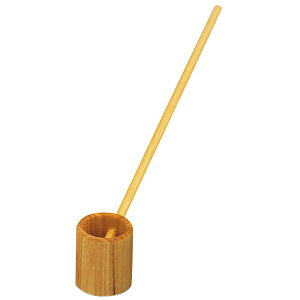木製豆ひしゃく (小) [ 約Φ3 x 22(柄長18.4)cm ] 【 調理道具 】   飲食店 和食 料亭 旅館 定食 厨房 業務用 自宅用