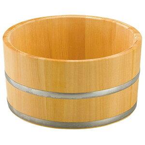 椹・湯桶 (ステンレスタガ) [ 約Φ22.5 x H11.5cm ] 【 浴場用品 】   温泉 銭湯 ホテル 旅館 木製 お風呂 入浴