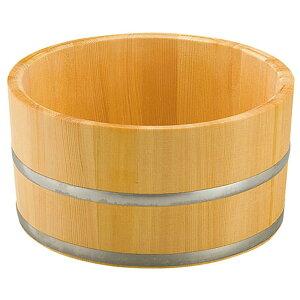 椹・湯桶タガミゾ加工ステンレスタガ (無塗装) [ 約Φ22.5 x H11.5cm ] 【 浴場用品 】 | 温泉 銭湯 ホテル 旅館 木製 お風呂 入浴