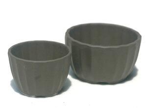 【清峰造】植木鉢4号菊型(ウ泥)【和風植木鉢 ミニ盆栽鉢 陶器 磁器】