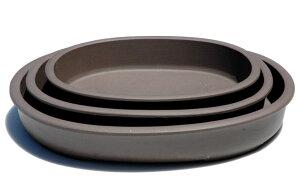【清峰造】縁付浅小判三組(ウ泥)【和風植木鉢 ミニ盆栽鉢 陶器 磁器】
